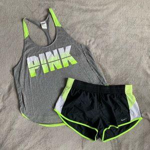 VS PINK Tank and Nike Shorts Bundle